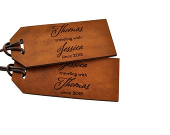 3rd Anniversary Gift, Leather Anniversary Luggage Tag, Personalized Anniversary Gift, Third Anniversary Gift for Men, Anniversary Gift Man