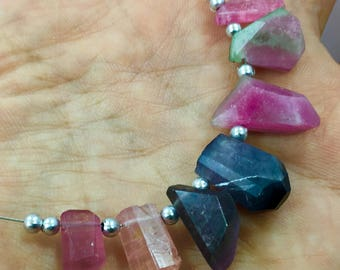 1 Strand mix Tourmaline beaded necklaces @bac