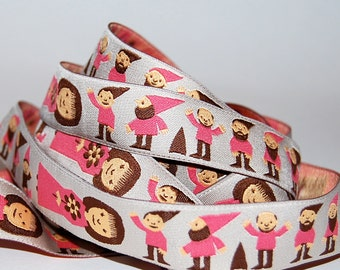 1 Yard Snow White and her Seven Dwarfs Jacquard Ribbon