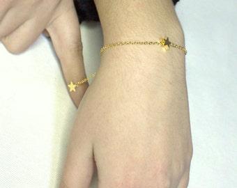 Star Bracelet -Danty Bracelet gold Star Bracelet Silver star