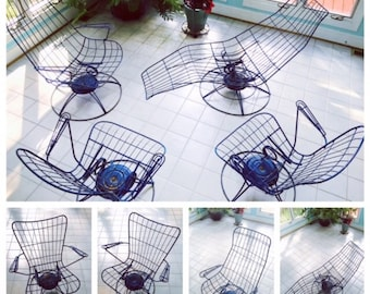 Mid Century Modern, Patio Furniture Set, 1950s Furniture, Vintage Outdoor Furniture,Homecrest,Wire Patio Set,Outdoor Living,Garden Furniture