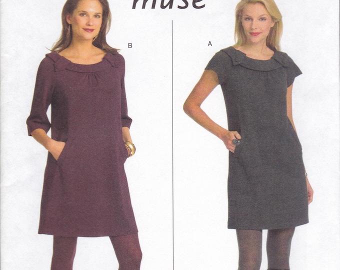 FREE US SHIP Butterick 5244 Sewing Pattern Muse Mod Dress Size 6 8 10 12 / 14 16 18 20  Bust 30 32 34 36 38 40 42 Plus New 2008