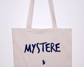 """Tote bag """"Mystère et boule de gomme"""" / Mystery and gumdrop / French expression"""