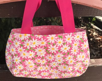 Pink Daisy Little Girl's Purse Ready to Ship Ready To Ship