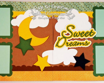Scrapbook Page Kit Sweet Dreams Baby Girl Boy 2 page Scrapbook Layout Kit 10
