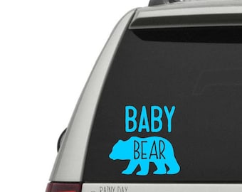 Baby Bear Decal - Match with Mama Bear Decal - Vinyl Decal - Car Window Decal - Laptop Decal - FREE SHIPPING with code