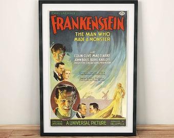 Frankenstein Boris Karloff Classic Horror Movie Film Poster