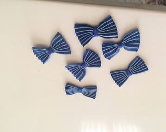 Bow tie pleated 3 * 2 cm color blue