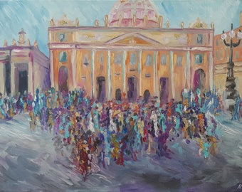 Rome / Original Painting. Oil on Canvas / 40H × 60W × 2 cm