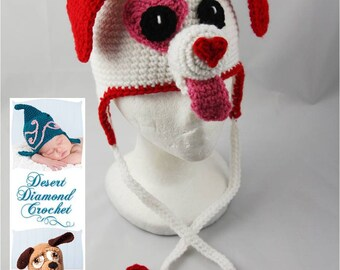 Puppy Love Earflap Beanie - Any Colors - Any Size
