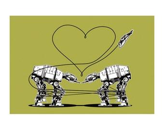 Set of star wars valentine s cards printable