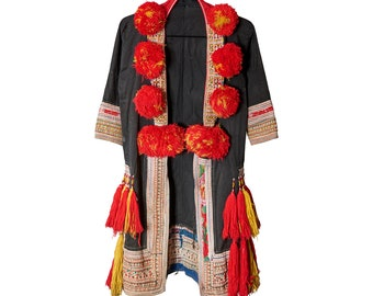Tribal jacket with pom pom