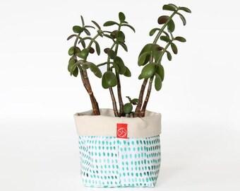 Panière - peint en vert de taches (profiter de plusieurs tailles).