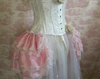Antoinette  Wedding Burlesque Bustle   Victorian  Gothic  Dance By Ophelias Folly