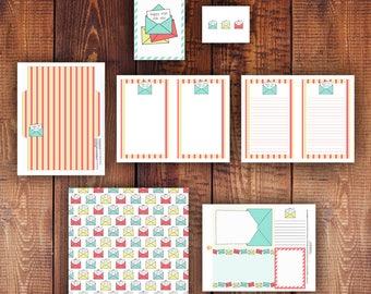 Happy Mail Printable Stationery Set