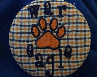 Auburn Gameday Button/Pin, Perfect accessory for your gameday outfit!
