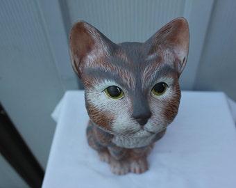 Vintage Handmade Kitty Cat Ceramic Figurine item 3102