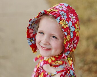 Sun Bonnet Sewing Pattern, Baby Bonnet Pattern, Newborn to Adult Sizes