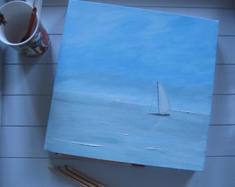 Table decoration marine oil painting wall House Gift