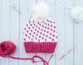 Fair-Isle Crochet Hat | Crochet Hat Pattern | Fair Isle Hat Crochet Pattern | Fair-Isle Crochet Beanie Pattern | PDF Pattern