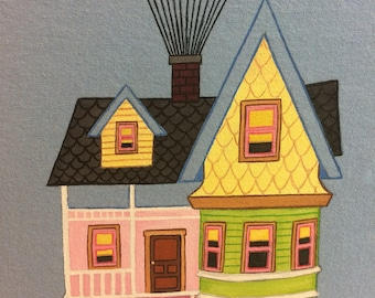 Custom Disney Clothing  the Up Balloon House shirt , sizes 12 m to 24  m, 2 to 12 teen