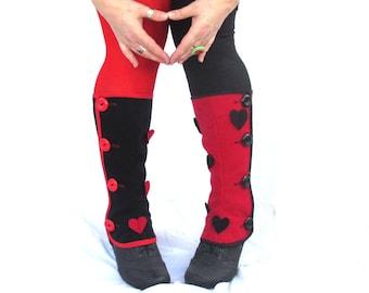 Spats Red Queen of hearts Love Alice in Wonderland's Gaiters