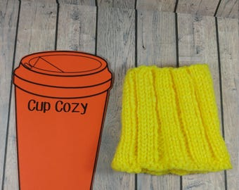 Travel Cup Cozy- Sunshine Yellow Travel Mug Cozy