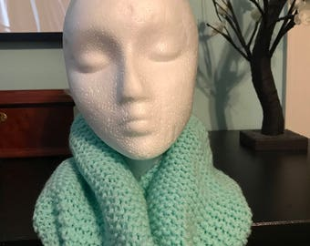 Light Teal Infinity Scarf