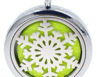 Snowflake Aromatherapy Necklace