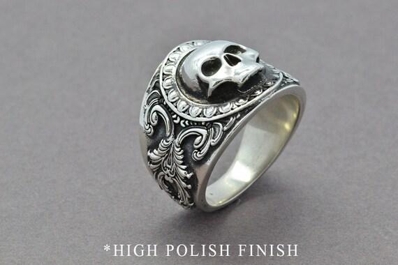 The Reaper Ring Skull Ring Sterling Silver Ring Men S