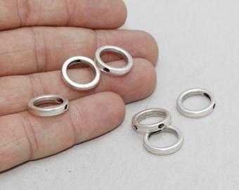 10 Pcs Antique Silver Round Necklace, initial Pendant, Geometric Necklace , 15mm , Antique Silver Round , initial necklace , ZMK5