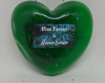 Handmade, Pine scent, Heart shaped, natural soap, homemade soap, vegan soap, gift for her - him, by Heaven Senses