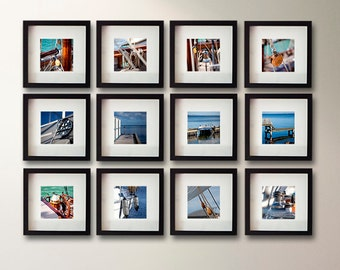 Gallery wall Summer photography set, beach photography, beach house decor, sea photography, sail boat decor, nautical decor office decor