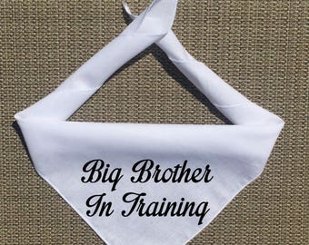 Dog Pregnancy Announcement Bandana, Big Brother in Training Pregnancy Announcement, Big Sister in Training, Custom Pregnancy Announce