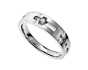 "Solitaire Ring ""Walk By Faith"""