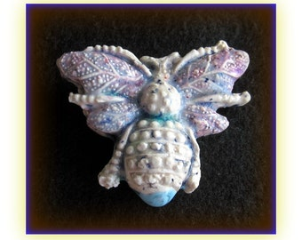 one of a kind bead supply -Focal Bead, Handmade Bead, Ceramic Bead,  bug bead supply -   #18