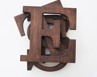 Wooden Letter   Rustic Letters   Brown Letters   Wooden Wall Letters   Letter  Decoration