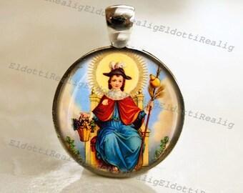 Santo Niño de Atocha / Holy Child of Atocha Religious Christian Catholic Medal Pendant / Charm Cabochon