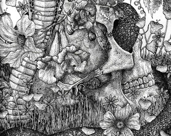 Sapena Print - an official print of my original pen and ink illustration