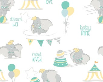 Dumbo Flannel by Camelot Design Studio for Camelot Fabrics - Flannel Fabrics - Dumbo Flannel - Children Flannel - Flannel Fabric by Yard