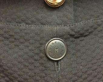 Vintage Chanel NWT cotton culottes shorts skort black 38