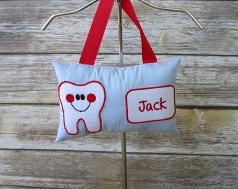 Tooth Fairy Pillow, Boy's Tooth Fairy Pillow,Personalized Tooth Fairy Pillow,