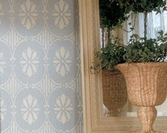 Wall Pattern Stencil Swedish Floral Allover Stencil for Wall Decor and More