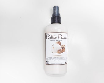 Butter Pecan  Body Mist - 3 Types Body Mist, Shimmering Body Spray - Spray Mist - Perfumed Spray - 4.7 oz