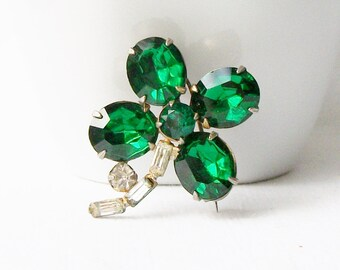 Vintage Clover Brooch, Vintage Clover Jewelry, Vintage Four Leaf Clover Pin, Vintage Lucky Clover, Luck of the Irish