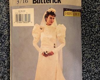 Butterick #3716: Misses' Historical Bridal Gown, SZ 18-22