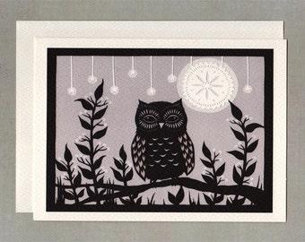 Enjoying The Night - Greeting Card