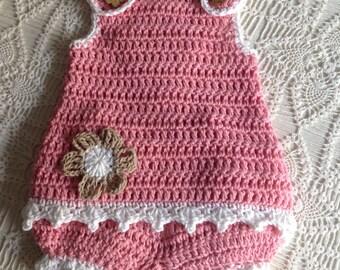 Crochet Sunsuit 9 to 12 Months Lauren PATTERN