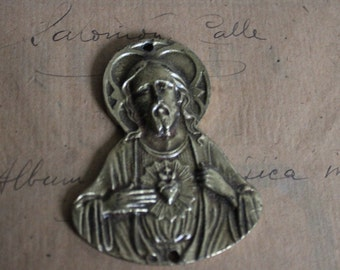 Antique home protector sacred heart of Jesus. To put on the door