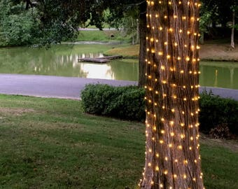 Up to 300 feet! Extra Long Fairy Lights - 300 to 900 lights.  Home decor outdoor lighting. Wedding aisle lights or perimeter lights.